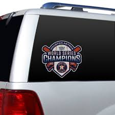 Houston Astros Official World Series Champions Large Window Film Fremont Die Retail Store