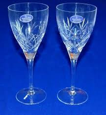 glass finest crystal long stemmed wine