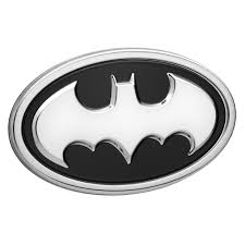 Batman Car Emblem 3d Black Chrome Dc Comics Automotive Decal Sticker Badge