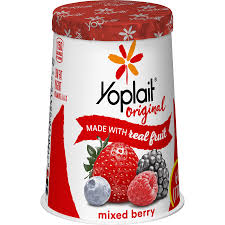 yoplait original yogurt mixed berry