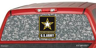 U S Army Camo Rear Window Graphic Decal Tint Perf Sticker For Etsy