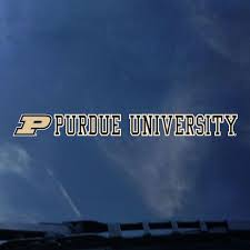 Purdue University Strip Decal Purdue University West Lafayette