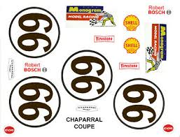 66 Chaparral Can Am Race Car Graphics 1 32nd Scale Slot Car Decals Ebay