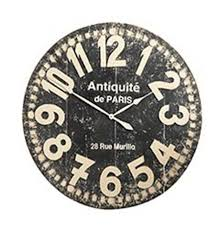 distressed wall clock knockoffdecor