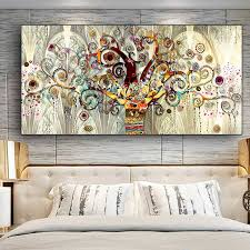 Tree Of Life By Gustav Klimt Landscape Wall Art Canvas Scandinavian Posters And Prints Modern Wall Art Picture For Living Room Painting Calligraphy Aliexpress