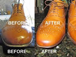 repairing scratched leather shoes