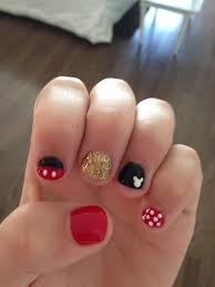 Super cute. Gel Mickey Mouse nails. | Disney nails, Mickey mouse ...