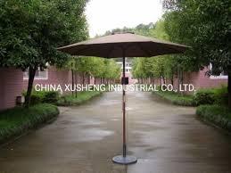 outdoor patio garden wood umbrella