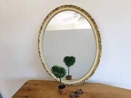 vintage ornate wall mirror large wood