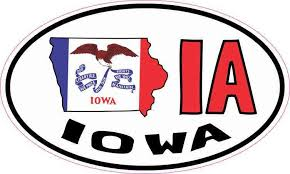 5in X 3in Oval Ia Iowa Sticker Vinyl Car Bumper Decal Luggage Stickers Stickertalk