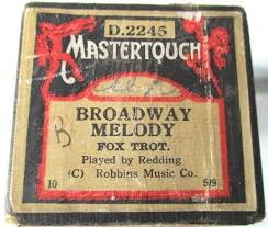 Mastertouch Broadway Melody Fox Trot played By Redding Pianola Roll d.2245  #Dancing in 2020 | Melody, Trot, Ebay