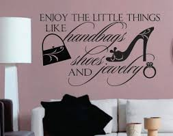 Bedroom Wall Decal Enjoy Little Things Shopping Theme Vinyl Etsy In 2020 Vinyl Wall Lettering Wall Decals For Bedroom Vinyl Wall Quotes