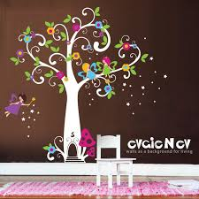 Girls Wall Decals Fairy Wall Decals Fairy Tree With Etsy In 2020 Wall Decal Fairy Fairy Tree Girls Wall Decals