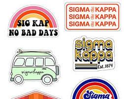 Sigma Kappa Stickers Etsy