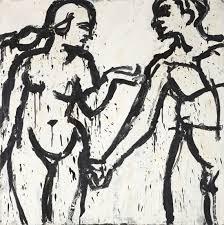 Lester Johnson - Adam and Eve After Dürer, 1965 | Phillips