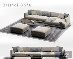 poliform bristol sofa p90 3d model