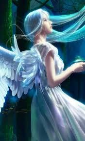 L'Ange Bleu | Art à thème ange, Ange, Anges et fées