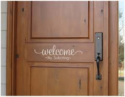 Welcome Decal No Soliciting Sticker Greeting For Home No Etsy