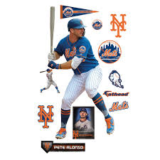 Pete Alonso New York Mets Fathead 11 Pack Life Size Removable Wall Decal Walmart Com Walmart Com