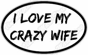 I Love My Crazy Wife Marriage Funny Car Bumper Vinyl Window Sticker Decal 6 X4 For Sale Online Ebay