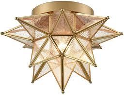 dazhuan brass moravian star light flush