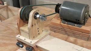mini wood lathe made of wood