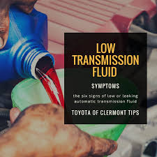 6 signs of low transmission fluid