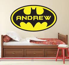Personalized Name Wall Decal Batman Logo Wall Art Superhero Etsy