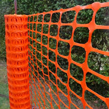 Plastic Mesh Fencing Barrier Safety Fencing Optional Steel Pins