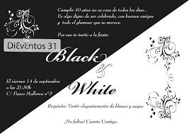 Invitacion De Cumpleanos Blanco Y Negro Imagui