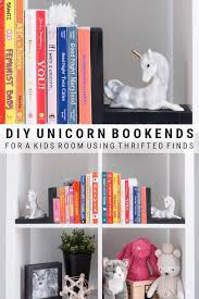 Diy Bookends For A Nursery Using Unicorns Kids Room Unicorn Decor Diy Bookends Unicorn Kids