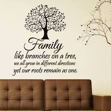 Amazon Com Family Wall Decal Quotes Family Like Branches On A Tree Inspirational Quote Wall Decals Murals Vinyl Lettering Wall Art Home Decor Q116 Kitchen Dining
