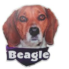 6 Inch Vinyl Dog Decal Beagle Picture