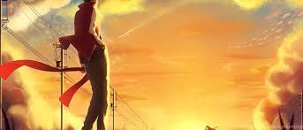 Anime Sunset Scene Wallpapers Desktop Background