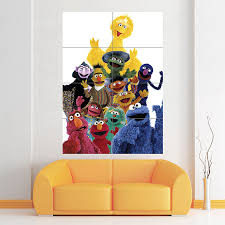 Sesame Street Characters Muppets Block Giant Wall Art Poster