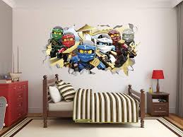 Amazon Com Ninjago Series 3d Smashed Wall Effect Wall Decal For Home Nursery Decoration Mural Wall Art 22 W X 14 H Arts Crafts Sewing