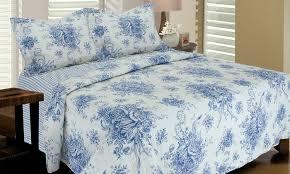 reversible 100 cotton toile quilt sets