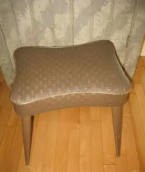 brown leather stool bench foot rest