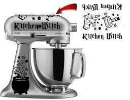 Amazon Com Kitchen Witch Vinyl Decal Sticker For Kitchen Mixers Handmade