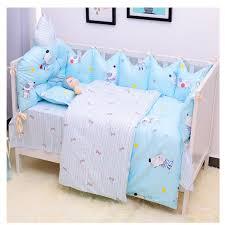 cute baby crib bedding set cloud shaped
