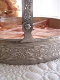 divided dish decorative metal basket