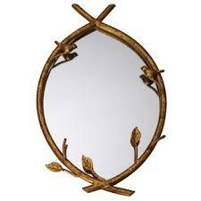bird on branch wall mirror unique