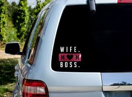Wife Mom Boss Car Decal Car Decal For Mom Car Decal For Etsy