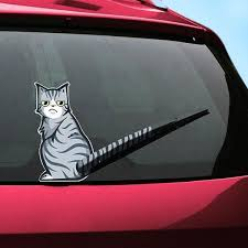 Moving Tail Kitty Car Decal Various Designs Geekyget