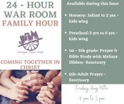 24 Hour War Room Family Hour