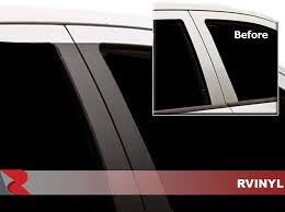 Amazon Com Rvinyl Rtrim Pillar Post Decal Trim For Ford Escape 2008 2012 Gloss Black Automotive