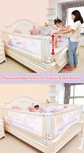 Adjustable Baby Toddler Bed Safety Fence Guard Infant Kids Playpen Gat Jameson Baby Co