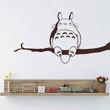 Poomoo Wall Sticker My Neighbor Totoro Vinyl Wall Sticker Inspired Totoro Wall Decal For Children Bedroom Playroom Totoro Wall Decal Vinyl Wall Stickerswall Sticker Aliexpress