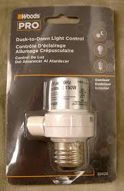 woods pro dusk to dawn light control