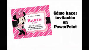 Como Hacer Invitacion Facil En Powerpoint Youtube